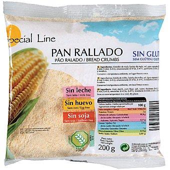 Special Line pan rallado sin gluten huevo ni lactosa Envase 200 g