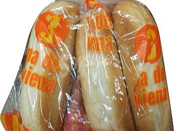 Panificadora Alcala Pan bocadillo viena Paquete 3 unidades ( 300 g )