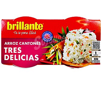Brillante Arroz tres delicias Pack de 2x125 g
