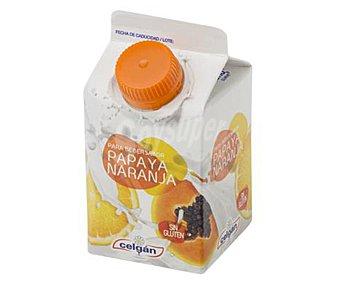 Celgán Yogur líquido para beber, sin gluten y con sabor a papaya y naranja 235 ml