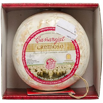 Cañarejal Torta de oveja madura grasa elaborada con leche cruda pieza 250 g