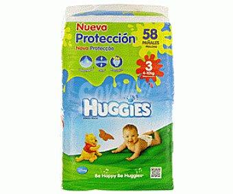 Huggies Pañales Talla 3 (4-10kg) 58U