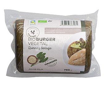 Ahimsa Burguer vegetal quinoa y borraja ecológico 750 g