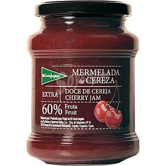EL CORTE INGLES Mermelada de cereza extra 60% fruta Tarro de 410 g