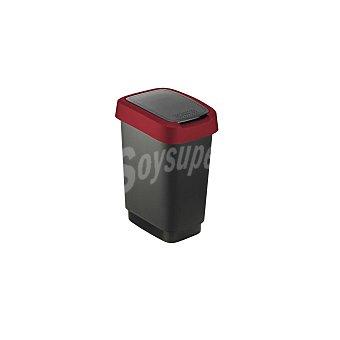 Sundis Cubo de basura de Plástico Sundis - negro/rojo 10 litros