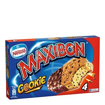 Maxibon Nestlé Helado sandwich de vainilla con cookies Pack 4x150 ml
