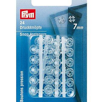 PRYM Estuche 24 broches de presión transparentes de 7 mm