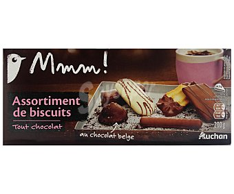 Auchan Surtido de galletas con chocolate 200 gramos