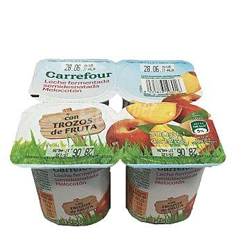 Carrefour Yogur con melocotón Pack de 4x125 g