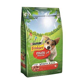 Friskies Purina Comida para perros Mini Menu con Buey 1,5 kg