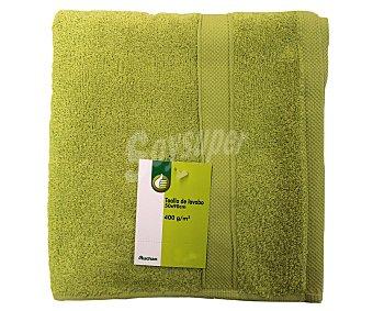 PRODUCTO ECONÓMICO ALCAMPO Toalla 100% algodón cardado, 400 gramos/m², color verde pistacho, 50x90 centímetros 1 Unidad