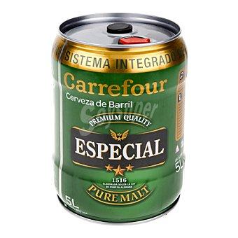 Carrefour Cerveza especial barril 5 l