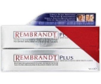 Rembrandt Dentífrico blanqueador de calidad superior con flúor , sabor a menta 50 + 50 Mililitros