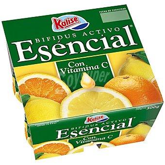 KALISE ESENCIAL Yogur Bífidus Activo con vitamina C Pack 4 envase 125 g