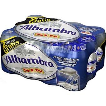 Alhambra Cerveza sin alcohol Pack 10 lata 33 cl