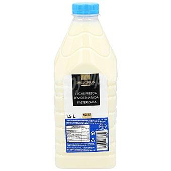 DIA Delicious Leche semidesnatada fresca Botella 1.5 l