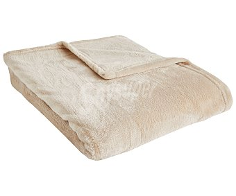 Actuel Plaid flanel color crema liso, 100% poliéster 220g/m², 130x170 cm. actuel. 220 g