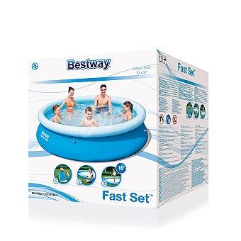 Bestway Piscina autoportante redonda sin depuradora, con medidas de 305x76 centímetros, altura regulable desde los 15 centímetros y capacidad de 5510 litros 1 unidad
