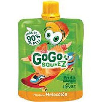 Gogo Squeez Fruta triturada de manzana-melocotón Bolsa 90 g