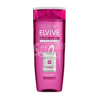 Elvive L'Oréal Paris Nutri-gloss luminizer champú alto brillo Bote 370 ml
