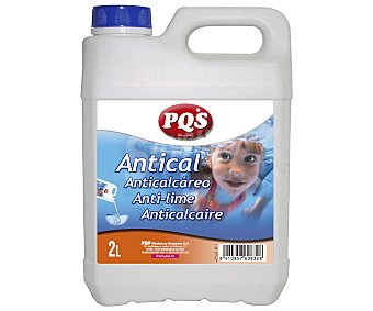 Pqs Garrafa antical de 2 litros para mantenimiento de piscinas, PQS. 2 litros