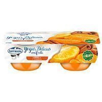 Central Lechera Asturiana Yogur bicapa de naranja-canela Pack 2 x 125 g