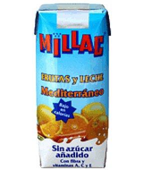 Millac Fruta y leche mediterráneo sin azucar 33 cl