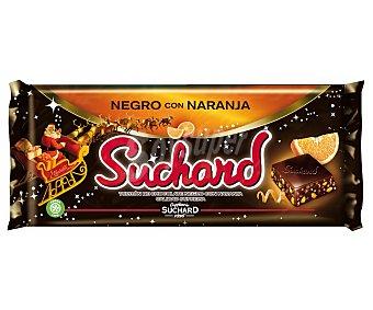 Suchard Turrón de chocolate negro con naranja,, 260 gramos