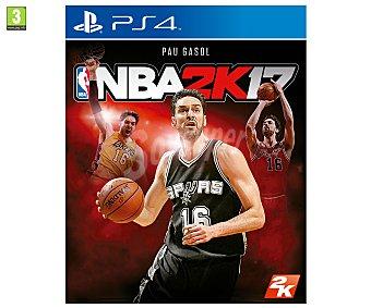 SIMULACIÓN Videojuego NBA 17 para Playstation 4. Género: deportes, baloncesto, . pegi: +3 2k
