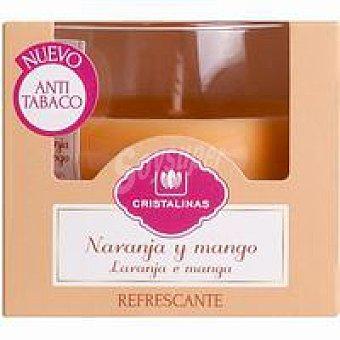 Cristalinas Vela de cera anti-tabaco con aroma a naranja y mango 1 ud