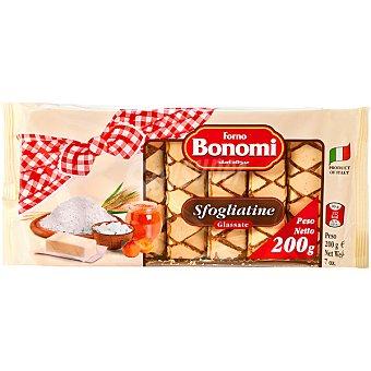 Bonomi hojaldres de albaricoque paquete 200 g