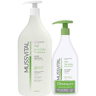 MUSSVITAL DERMACTIVE Locion hidratante para piel sensible 1 l