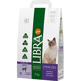 Libra Affinity Alimento equilibrado para gatos esterilizados con pollo Sterilized Bolsa 3 kg