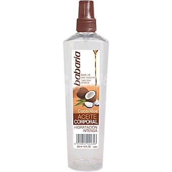 BABARIA aceite corporal de Coco y Aloe hidratación intensa  spray 300 ml