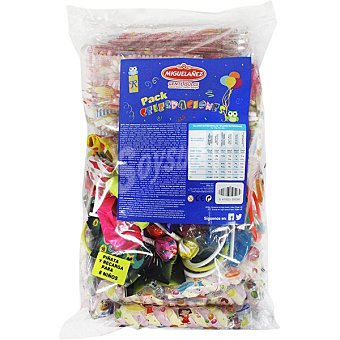 MIGUELAÑEZ Pack celebraciones con piñata y surtido de dulces para 8 niños bolsa 1 unidad