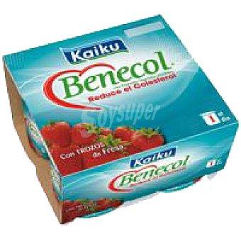 Kaiku Benecol Benecol con fresas Pack 4x125 g
