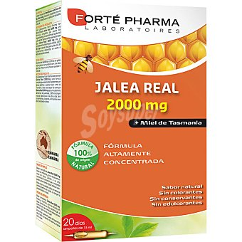 Forte Pharma Jalea Real con miel de Tasmania estimulador de defensas sabor natural caja 20 ampollas 15 ml 2000 mg