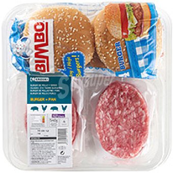 Coc&coc Bimbo hamburguesa mixta Bandeja 540 g