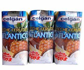 Celgán Leche y Frutas Atlántico Bio Pack 3 Unidades de 330 Mililitros