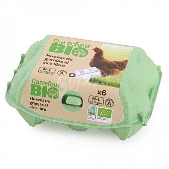 Carrefour Bio Huevos M-L ecológicos 6 ud Blister 6 ud