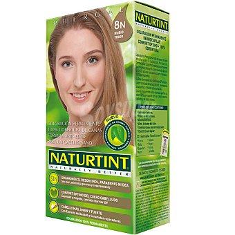 Naturtint Tinte rubio trigo 8N color permanente sin amoniaco caja 1 unidad Caja 1 unidad
