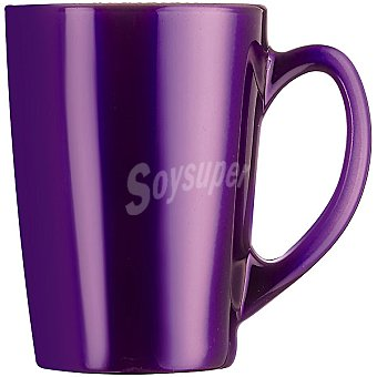 LUMINARC Flashy mug de vidrio metalizado en color morado 32 cl
