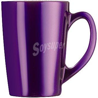 Luminarc Flashy mug de vidrio metalizado en color morado 32 cl