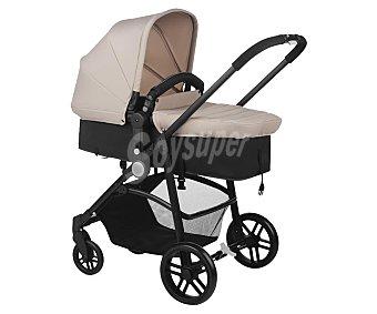 Baby nurse Coche de paseo trío, capazo homologado, color beige y negro, nurse roller