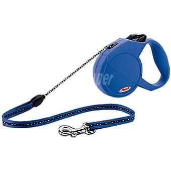 Flexi correa extensible para perros color azul talla M para mascotas hasta  20 kg 1 unidad
