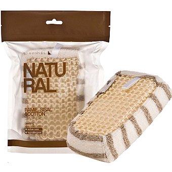 Suavipiel Esponja de baño Natural algodon ramie sisal bolsa 1 unidad Bolsa 1 unidad