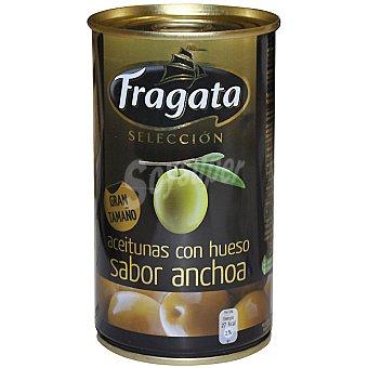 FRAGATA Gran Selección Aceitunas con hueso sabor anchoa Lata 150 g