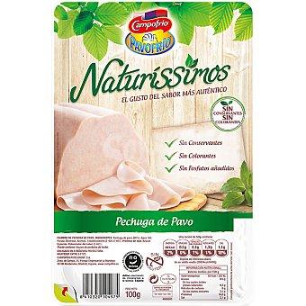 Campofrío Pechuga de pavo sin gluten sin fosfatos añadidos sin colorantes Envase 115 g