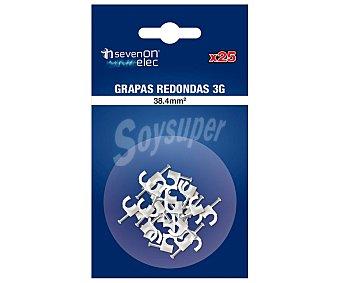 SEVENON Juego de 25 grapas redondas con 38.4mm², sevenon 3g