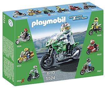 PLAYMOBIL Moto deportiva de la serie Sport & Action modelo 5524 de 1 unidad